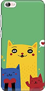 The Racoon Grip Happy Cats hard plastic printed back case/cover for Vivo X Play 5 / Vivo X Play 5 Elite