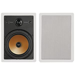 BIC America HT8W 8-Inch 3-Way Acoustech Series In-Wall Speakers, 1 Pair