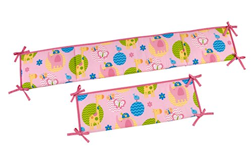 Little Bedding Forever Friends Traditional Padded Bumper
