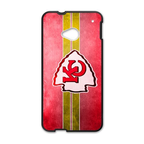 Kansas City Chiefs Red And White And Yellow Htc One M7 Shell Case Cover (Laser Technology)