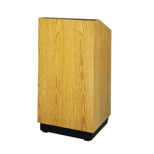 "Da-Lite School Office Conference Room Presentation Lexington Lectern 32"" Floor Standing Podium With Sound System Standard Veneer"