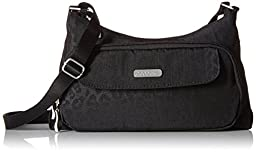 Baggallini Everyday Travel Crossbody Bag, Black Cheetah, One Size