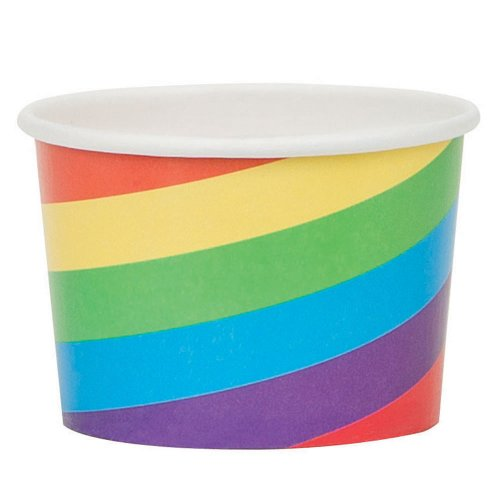 Paper Rainbow Snack Cups, 8ct - 1