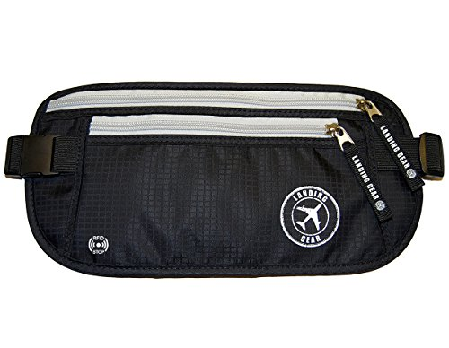 Venture4th RFID Money Belt Protect Yourself From Travel Theft Comfortable Durable and Lightweight (Black)