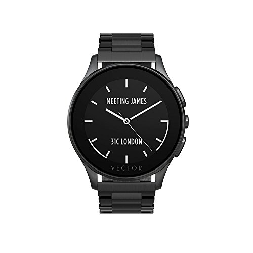 Vector Watch Smartwatch with 30 Day Battery Life for - Luna-Brushed Black