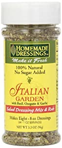 Homemade Dressings Italian Garden Salad Dressing Mix & Rub, 3.3 Ounce Container