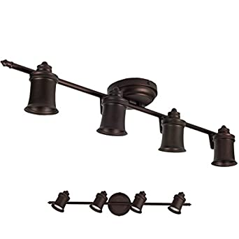 Oil Rubbed Bronze 4 Light Track Lighting Wall Ceiling