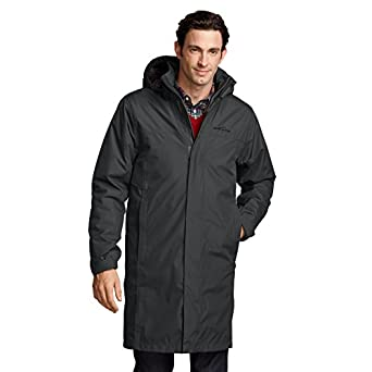 Eddie Bauer Mens WeatherEdge® Rainfoil Insulated Commuter Trench, Dk Smoke XXL R