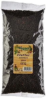 Wagner Gewürze Pfeffer schwarz ganz, 1er Pack (1 x 500 g) von Wagner Gewürze bei Gewürze Shop