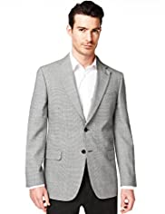 Collezione Basket Weave 2 Button Jacket with Wool