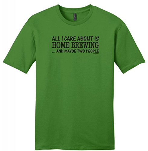 All I Care About Is Home Brewing And Maybe 2 People Young Mens T-Shirt Large Kiwi Green front-633469