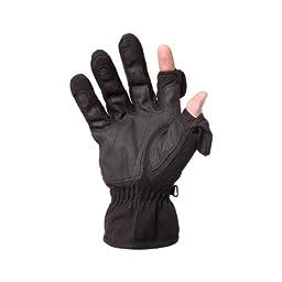 Freehands Men\'s Stretch Thinsulate Gloves, Medium, Black