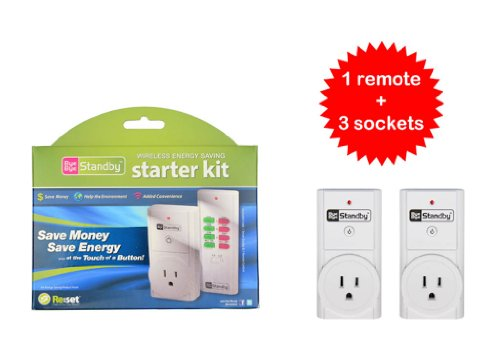Bye Bye Standby Wireless Remote Control For Christmas And Halloween Lights And Energy Saving Kit 3 Outlets One Remote