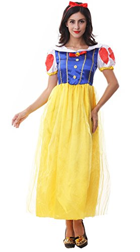 Voglee Sexy Snow White Princess Women Adult Costume Dress