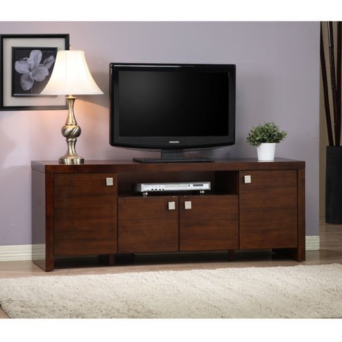 Classic 4 Door Entertainment Center. This Beautiful Media Console Unit Will Instantly Upgrade Your Living Room. Functions As The Perfect Tv Stand And Storage Hutch. Adjustable Shelf And Spacious Drawers Make This Furniture Decor As Functional As It Is App front-1027602