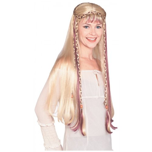 Medieval Maiden Wig Costume Accessory