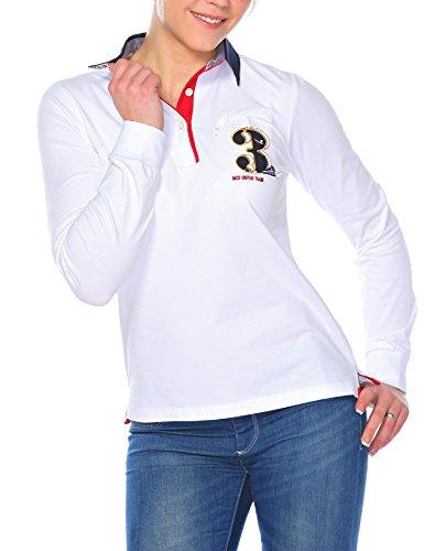 Polo Sweat Maglietta T-Shirt Felpa manica lunga per donna di M.Conte Montserrat bianco L