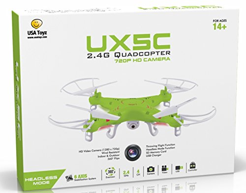 X5C RC Quadcopter Drone with Camera (720p HD) Headless Mode 2.4GHz 4 CH
