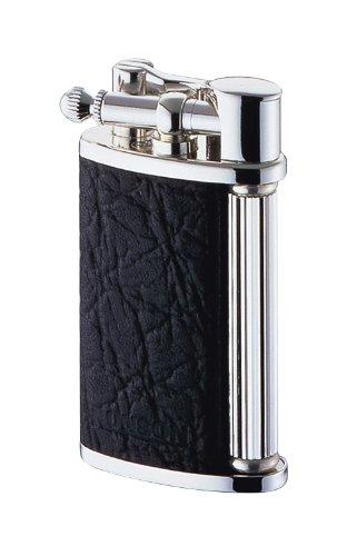 Windmill (RONSON) Ronson classic フリントガス writer R23-0004 ダイアシルバー leather roll black
