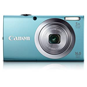 Canon Powershot A2400 IS 16MP Digital Point and Shoot Camera with 5x Optical Zoom (Blue)