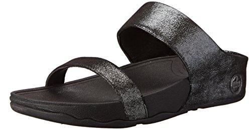 FitFlop Women's Lulu Shimmer Suede Slide Dress Sandal