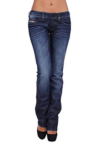 Diesel - Women'S Jeans Lowky 8Ss - Regular Slim - Straight - Stretch - Blue, W28 / L34
