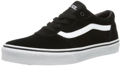 Vans Y MILTON  (SUEDE) BLACK/W, Sneaker unisex bambino, Nero (Noir (Black/White)), 33