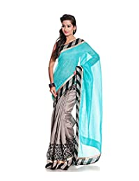 London Beauty Blue Cotton Silk Saree
