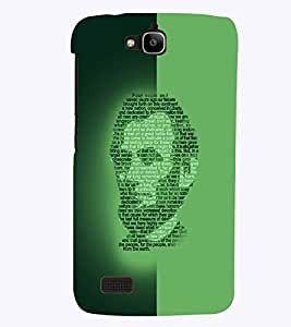 PrintVisa Modern Art Lincoln Face 3D Hard Polycarbonate Designer Back Case Cover for Huawei Honor Holly