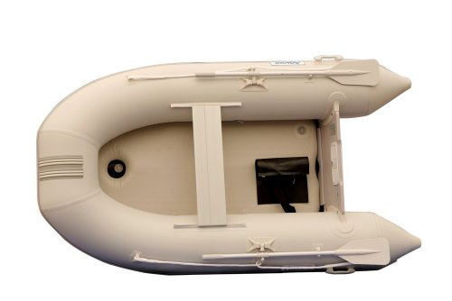 Image of Aquos 0.9mm PVC 7.5 Feet Inflatable Boat Raft Dinghy Tender with Air-deck Floor - Gray - (DIC230DG09W)
