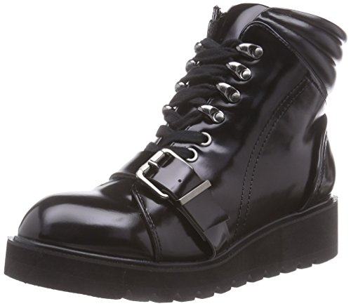 Buffalo 333319 KL-2133, Stivaletti a gamba corta mod. Classics, senza imbottitura donna, Nero (nero (black 01)), 39