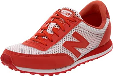 HKNB Heidi Klum for New Balance Women's 410 Sneaker, Natural/Red, 7.5 B US (38 EU)