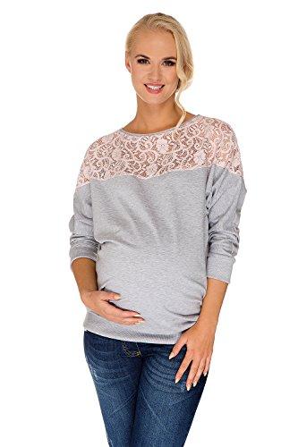 my-tummy-umstands-pullover-sweatshirt-freizeit-ashley-rosa-spitze-grau-meliert-m-medium