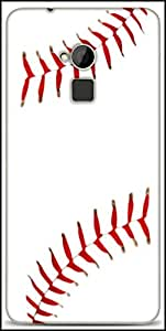 Snoogg Baseball Designer Protective Back Case Cover For HTC One-Max