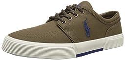 Polo Ralph Lauren Men\'s Faxon Low Fashion Sneaker, Dark Sepia, 8.5 D US