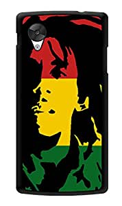 "Humor Gang Bob Marley Rasta Printed Designer Mobile Back Cover For ""Lg Google Nexus 5"" (3D, Glossy, Premium Quality Snap On Case)"