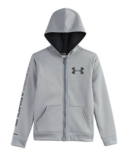 Under Armour Big Boys' UA Storm Armour® Fleece MagZip™ Hoodie Youth Small True Gray Heather