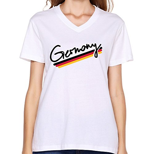 Goldfish Women'S Funny Quotes Normal Fit Germany T-Shirt White Us Size M