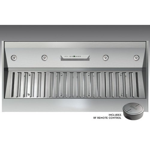 Zephyr AK9352AS 1200 CFM 54 Inch Wide Insert Range Hood with Halogen Lighting an, Stainless Steel (48 Range Hood Insert compare prices)