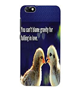 ColourCraft Image with Quote Design Back Case Cover for HUAWEI HONOR 4X