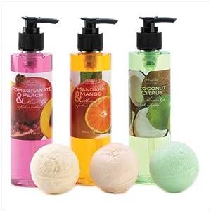 Tropical Fruits Scented Bath Body Shower Gel Fizzer Set
