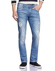 Lawman Men's Slim Fit Jeans (8907201953352_PG3 KTN-1550STR SLMFT SKBL_36W x 34L_Blue)
