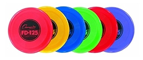 Champion Sports Plastic Flying Disc, 125 g, Assorted Colors