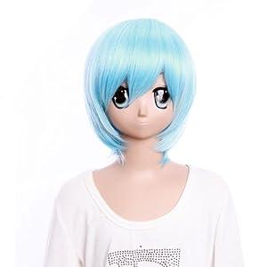 SureWells Costume Wigs Fabulous wigs Eva Short Blue Wigs Weekend On Sale 10% Off Party Wigs Fabulous wigs