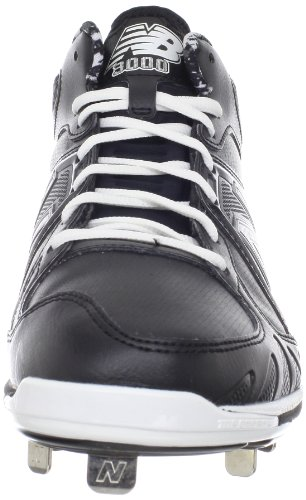 pictures of New Balance Men's MB3000 Mid-cut Baseball Cleat,Black/white,16 D US