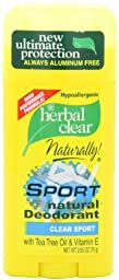 21st Century, Herbal Clear Deodorant, Sport, 2.65-Ounce (Pack of 3)