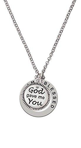 God Gave Me You - I Am Blessed Affirmation Necklace