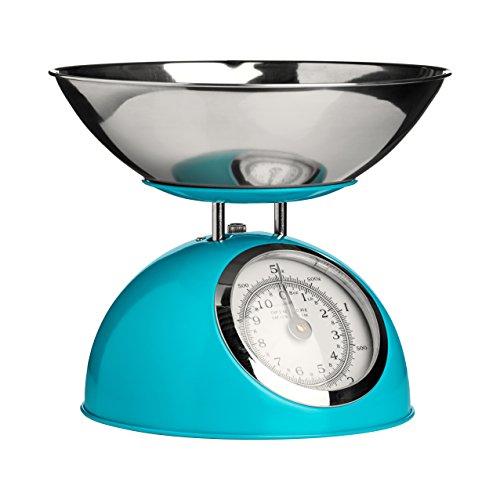 Premier Housewares 0807281 Balance de Cuisine Electronique avec Bol Acier Inoxydable Bleu