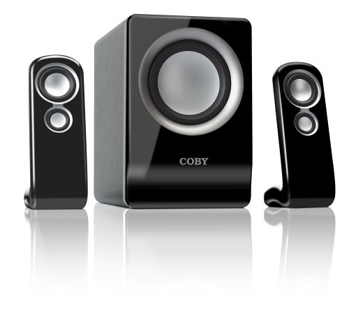 Coby CSMP80 100-Watt 2.1-Channel Multimedia Speaker System for iPod and MP3 Players (Black)
