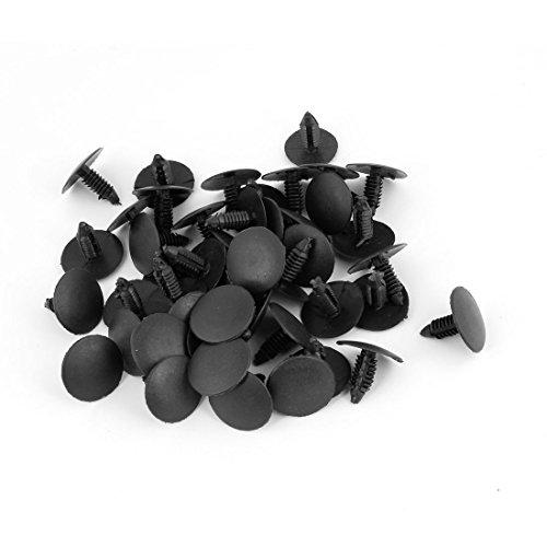 uxcell® 50 Pcs Plastic Fastener Rivet Retainer Clips Black (Ram Air Hood Silverado 2008 compare prices)